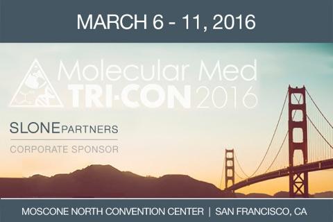 Slone Partners, Corporate Sponsor of Molecular Med Tri-Con 2016